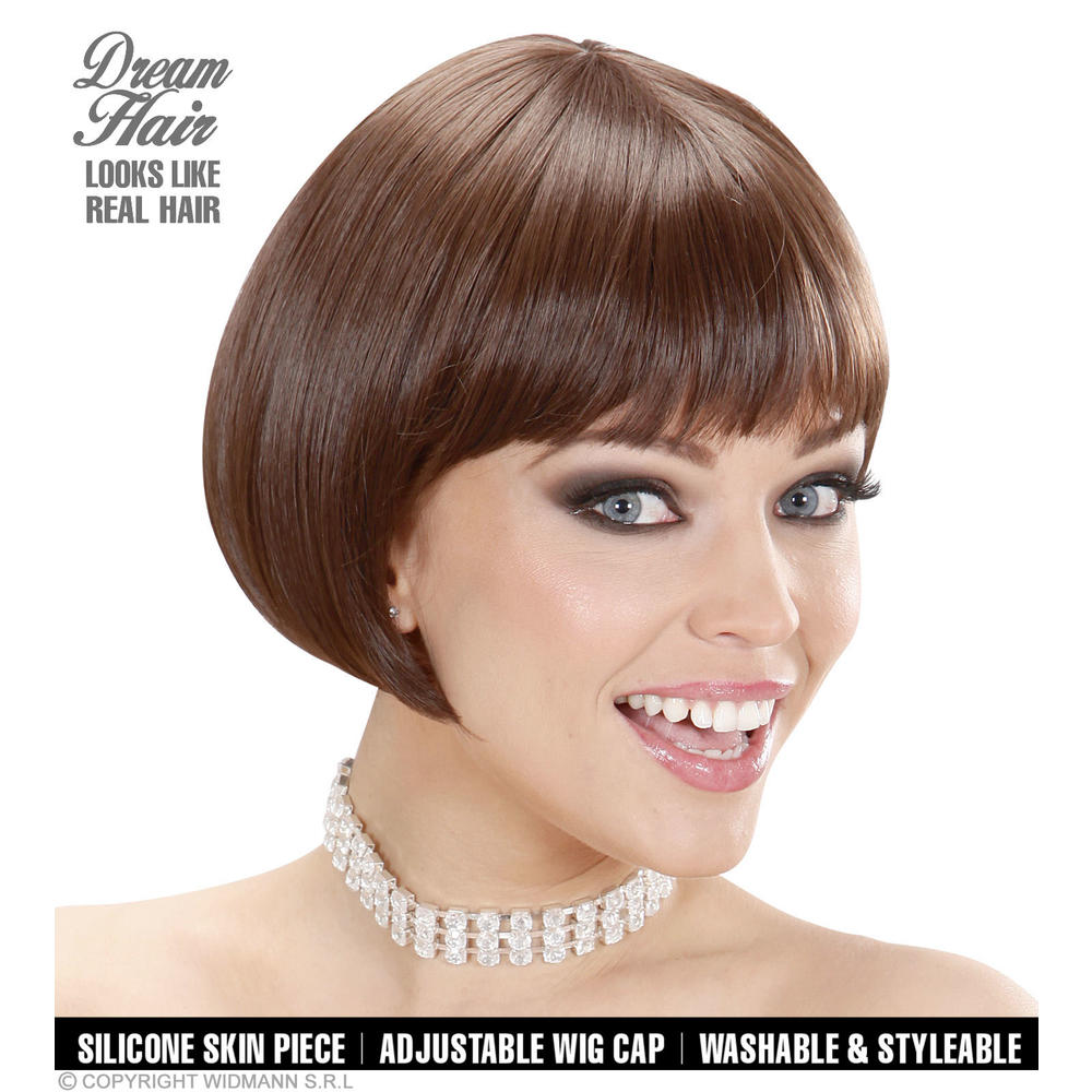 """BROWN VALENTINA WIG"" (bob cut) incolor box"